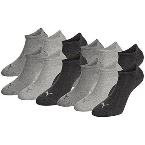 PUMA Unisex Sneakers Socken Sportsocken 12er Pack, mt (39/42, Anthracite)