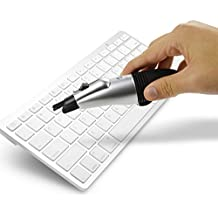 Mini Vacuum USB Powered Hoover Keyboard Cleaner Turbo Dust Collector Aspirator with Brush & LED Light for Computer Laptop Notebook PC Keyboard
