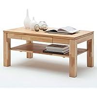 Moebella Couchtisch Holz Massiv Buche Mit Schublade Massivholz Wohnzimmer  Tisch Kernbuche Lukas