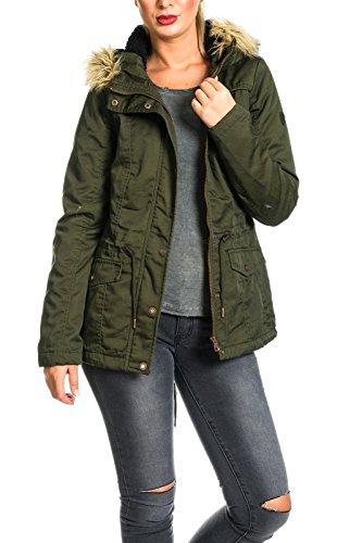 ONLY Kate Short Canvas Jacket Otw-Giubbotto Donna    verde M