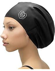 SOUL CAP XL - Bonnet de Bain Très Grand/Bonnet de Douche | Conçu pour des Cheveux Longs, Dreadlocks, Tissages, Extensions de Cheveux, Tresses, Boucles et Afros | Hommes et Femmes | 100% Silicone