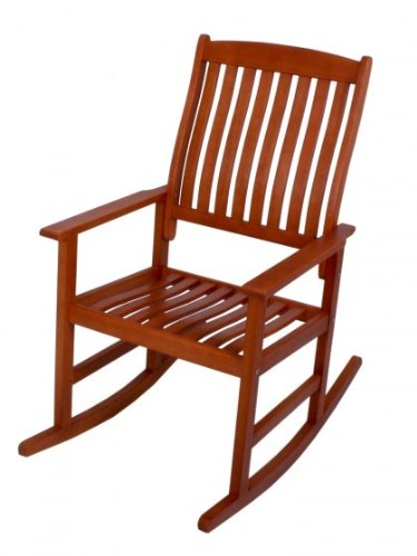 Rocking chair chaise de jardin en bois d'eucalyptus fSC huilé