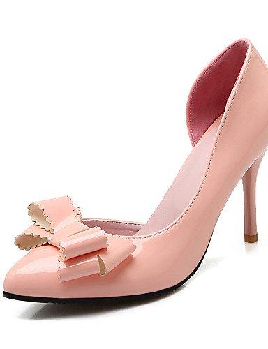 WSS 2016 Chaussures Femme-Bureau & Travail / Décontracté-Noir / Rose / Rouge / Blanc-Talon Aiguille-Talons / Bout Pointu-Talons-Cuir Verni red-us8 / eu39 / uk6 / cn39