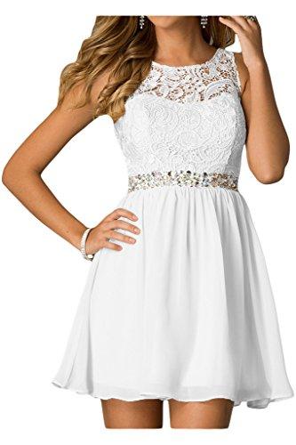 ivyd ressing Femme préférée pierres A ligne mousseline & dentelle robe robe Demoiselle d'Honneur Soirée Cocktail robe du soir Blanc - blanc