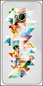 Snoogg Abstract Colourful Theme Designer Protective Back Case Cover For HTC M7