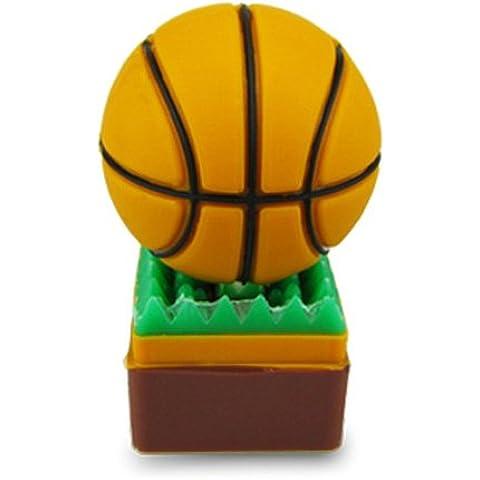 818-shop no50100080002 Hi-Speed 2.0 USB PenDrive 2GB pallacanestro sportivo 3D marrone