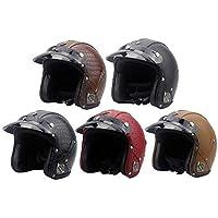 Woljay 3//4 Offener Sturzhelm Wei/ß Star Graphic Helmet Motorrad-Helm Jet-Helm Scooter-Helm Vespa-Helm Halbhelme Adult Helm Flat mit Rebellen Schwarz XXL