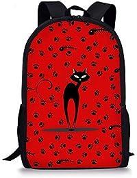 FRGVSXZCX - Mochilas Infantiles para niños, Mochila Escolar para la Escuela, Libros, diseño de Gato, 16 Pulgadas,…