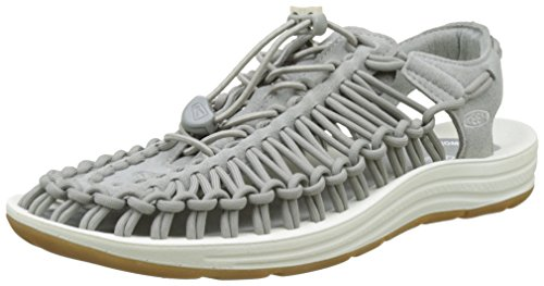 Keen Herren Uneek M Neutral Gymnastikschuhe, Mehrfarbig (Grey/White), 45 EU (Neutral Ferse)