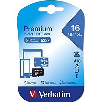 Verbatim Micro SDHC 16GB - Tarjeta Micro SD de 16 GB (Clase: 10), Negro