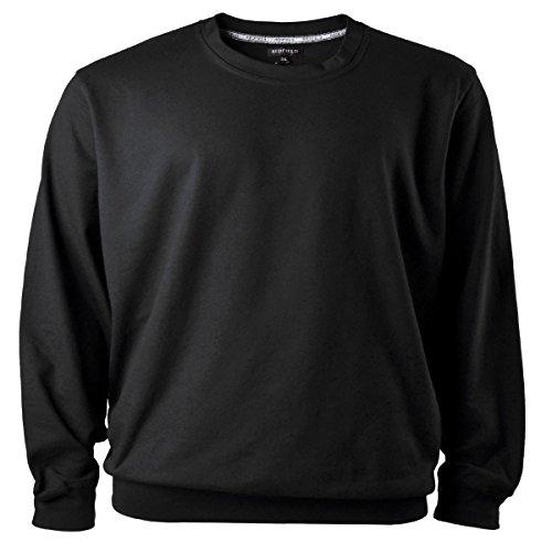 Redfield Sweatshirt Herren Übergröße schwarz, XL Größe:6XL