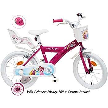 Bicicleta de 16 Pulgadas para niña Princess 2 Frenos portamuñecas ...