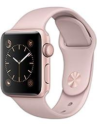 Apple Watch Series 2, 38 mm, GPS, Aluminium Gehäuse, Roségold mit Sport-Armband, Sandrosa, 2016
