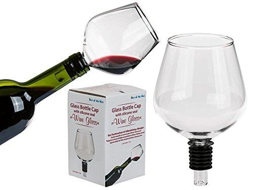 ootb Flaschenaufsatz mit Silikondichtung, Glas, Transparent, 8.6 x 8.6 x 13.6 cm