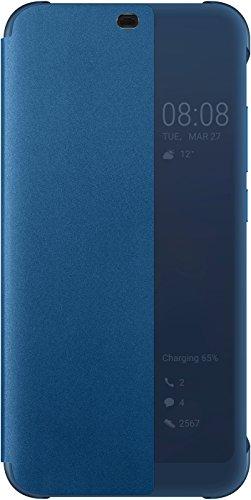 HONOR 10 Book-, Flip Cover Blau (Klare Schutzhülle Book Cover)