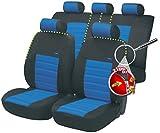 Timon 75817, Housse siege auto, kit complet, noir, bleu
