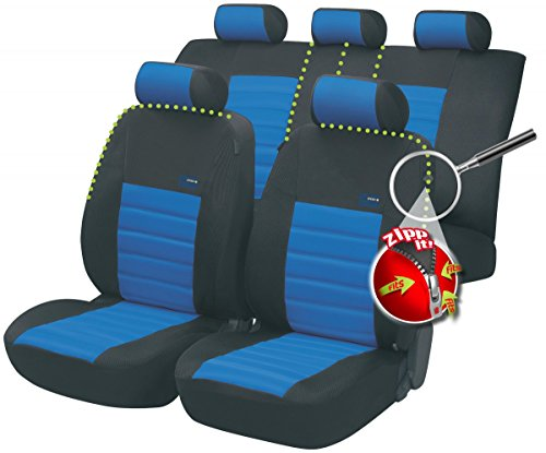 Preisvergleich Produktbild Timon 76171, Autositzbezug Schonbezug, Komplett Set, Schwarz, Blau