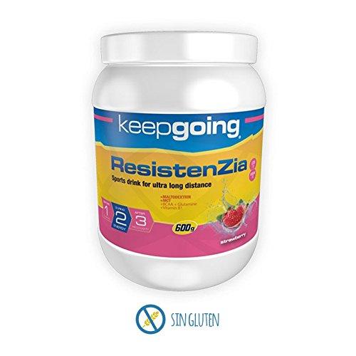 Keepgoing ResistenZia · Bebida Energética · Bote de 600g. Strawberry.