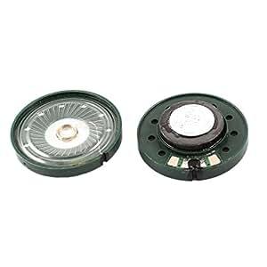 2Pcs 16 Ohm 0.25W Runde Schlank Interne Magnet Lautsprecher Grün für Spielwaren de