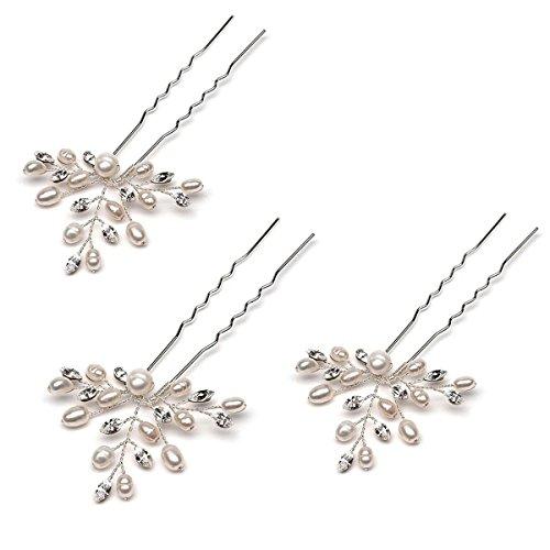 HITOP Fashion Retro elegant Damen Süß Perlen Blättern Stirnband Haarreif Haarschmuck Stirnschmuck Hochzeit - 3 Stück (Süße Paare Kostüme)