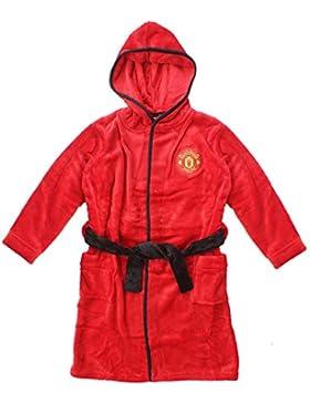 Niño Manchester United Oficial MUFC Sudadera De Lana con Capucha Bata Tallas Desde 3 a 13 Años