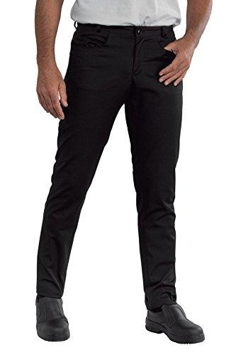 Isacco Pantalone Yale SLIM Nero, Nero, 54, 65% Poliestere 35% Cotone