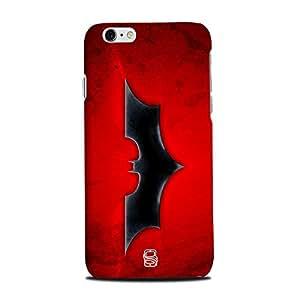 AllDeviceSkin Batman Logo High Quality Print Hard Back Case Cover for Apple iPhone 6 (Design-comics-superhero-30)