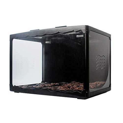 YWJHY Klettern Haustier Terrarium Schildkröte Schlange Eidechse Igel Acryl Kombination Box Geschenk,schwarz,Einheitsgröße
