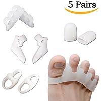Preisvergleich für Bunion Corrector Silikon Gel-Zehentrenner, Zehenspreizer für Hammer entzündeten Fußballen Zehen (weiß)