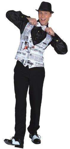 Reporter Kostüm - Orlob Weste Newstime zum Herren Kostüm Reporter Karneval Fasching Gr.52/54