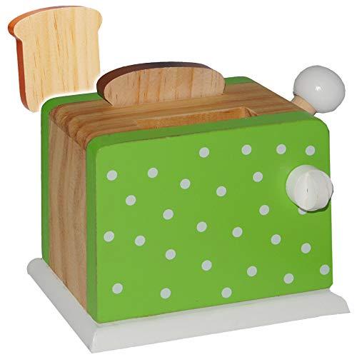Toaster mit 2 Toastscheiben - Holz Spiel Küche Zubehör Deko / Toastscheiben ()