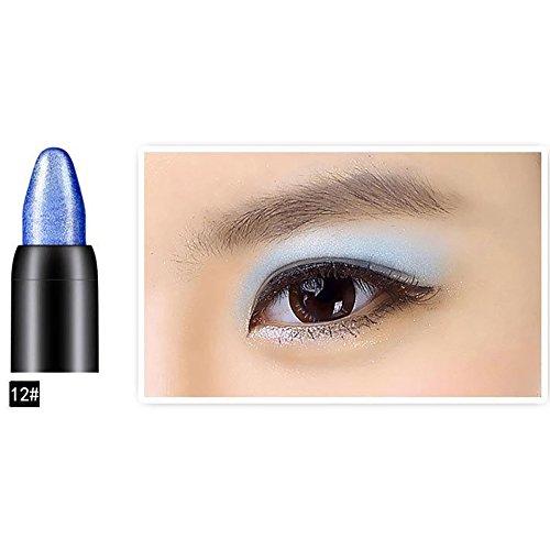Etosell 3 en 1 Femmes Ombre A Paupieres, Eyeliner Silkworm Crayon Maquillage Beaute