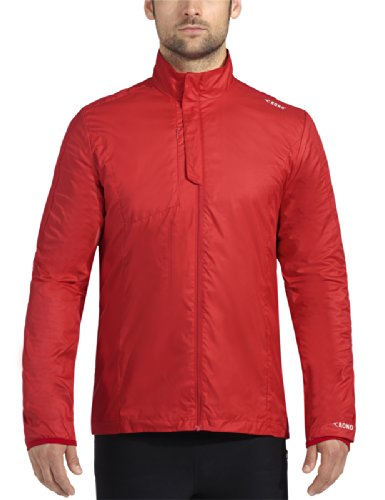Rono Herren Lauf Fitnessjacke XC Proof Jacket Fiery Red