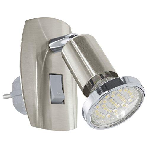 Eglo MINI 4 - Lámpara (Cepillado, Dormitorio, Interior, GU10, LED, 2.5W) Cromo