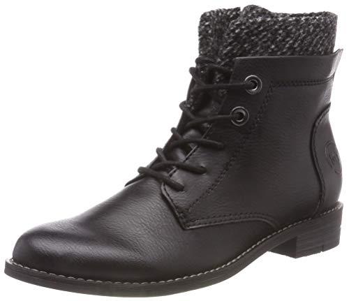 MARCO TOZZI Damen 2-2-25119-21 096 Combat Boots, Schwarz (Black Ant.Comb, 38 EU