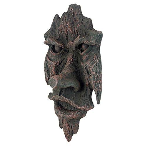 Design Toscano Der Geist von Nottingham Woods Greenman Wandskulptur, Polyresin, holzton, 38 cm