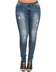 Women's Ladies Stunning Denim Distressed Skinny Jeans
