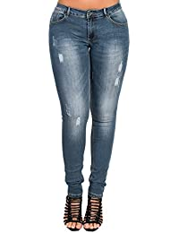 Women's Ladies Stunning Denim Distressed Skinny Jeans