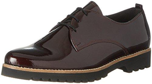 Gabor Shoes Damen Comfort Sport Derbys, Rot (91 Merlot (S.S/C)), 40 EU