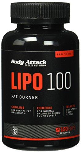#Body Attack LIPO 100 Fat Burner, 120 Kapseln, 1er Pack (1 x 102 g)#