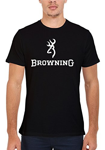 Browning Shotgun Hunting Cool Novelty Men Women Unisex Top T Shirt-M (T-shirts Browning)
