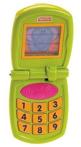 Fisher-Price Wachsende Baby Fun Sounds Flip Phone, (GRÜN)