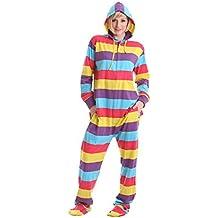 Pijama de Una Pieza Adulto Onesie Pijama Pijamas Entero con pies y con Capucha – Jumpsuit Mono XS-XXL (basado en su altura)