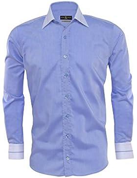 Giorgio Capone camisa premium para hombre, 100% algodon, Slim/Normal & Regular-Plus Fit