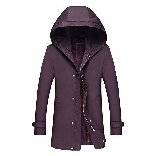 yffushi Felpa con cappuccio Halloween Elegante e sottile con cappuccio mantello mantello giacca Trench Autunno Inverno Cappotto Red XX-Large