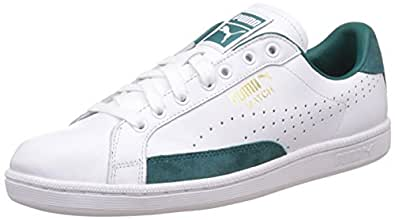 Puma Men's Match 74 UPC White, Storm and Gold Leather Sneakers - 10 UK/India (44.5 EU)