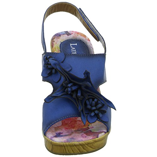 Laura Vita VILLAGESL974-3A Damen Sandalette eleganter Boden Blau (Blau)