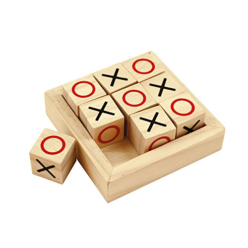 Bigjigs Toys Mini Noughts & Crosses - Wooden Games, Stocking Fillers