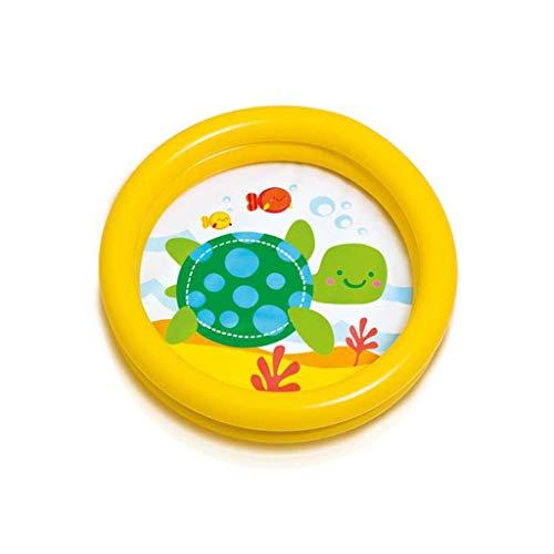 LQHPP Kinderbecken Game Center Wasserspielzeug Aufblasbare Badewanne 61 * 15CM Geeignet Für Kinder Im Alter Von 0-3 Yellow