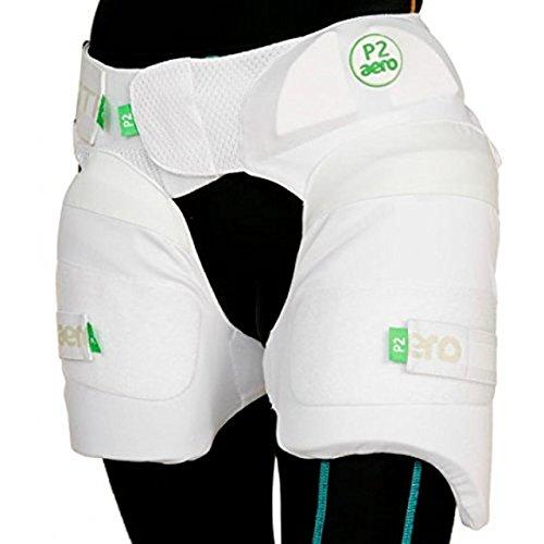 Aero Cricket Batting Schutz P2Stripper Batsman Beinschutz Oberschenkelpolster, weiß